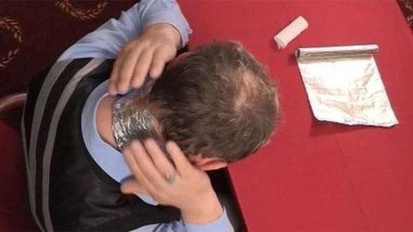 фольга на шее