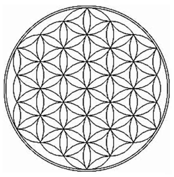 схема цветка жизни