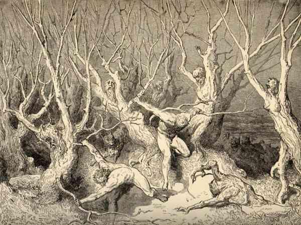 лес самоубийц картина