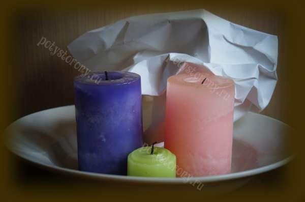 свечи тарелка бумага