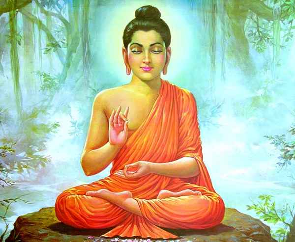 будда в позе лотоса