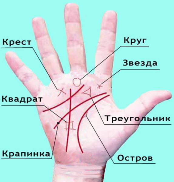 круг на руке