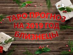 Таро гороскоп на 2019 год для Близнецов