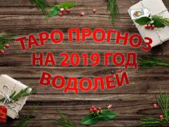 Таро гороскоп на 2019 год для Водолея