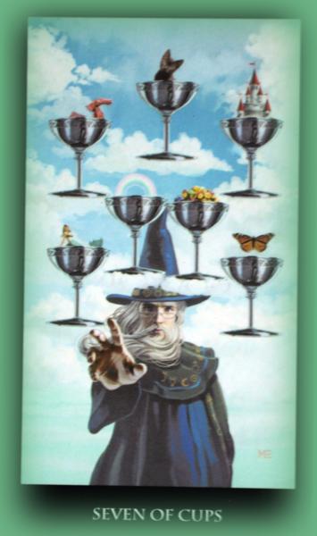 семь чаш колода таро ведьм
