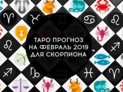 Таро гороскоп на февраль 2019 для Скорпионов