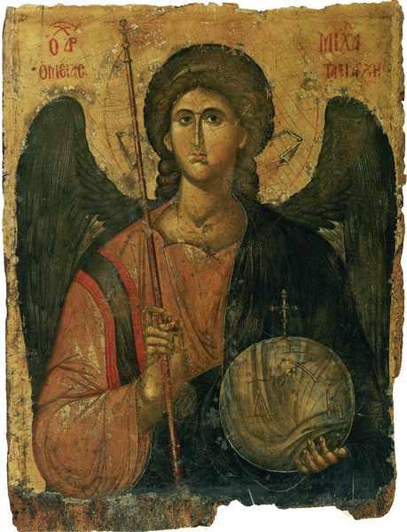архангел михаил на иконе 14 столетия