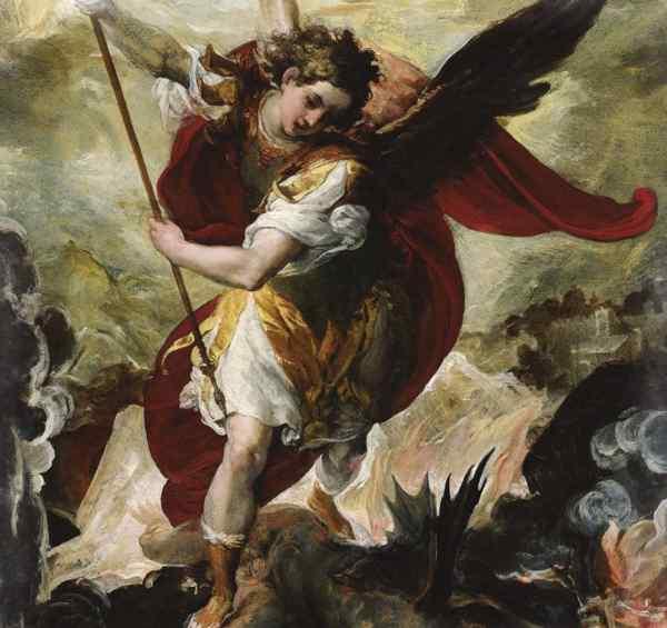 Архангел Михаил повергает Люцифера