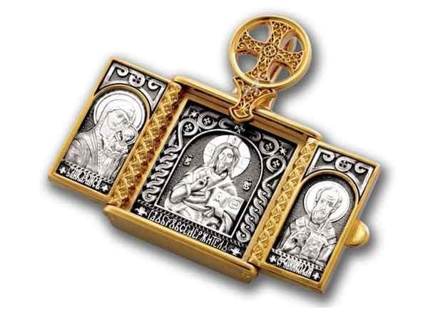 ладанка с образами святых