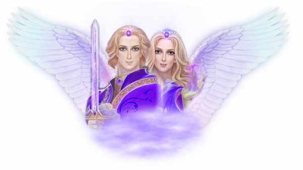 Архангел Задкиил и Святая Аметиста воплощение фиолетового пламени