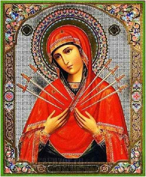 Семистрельная Богородица икона