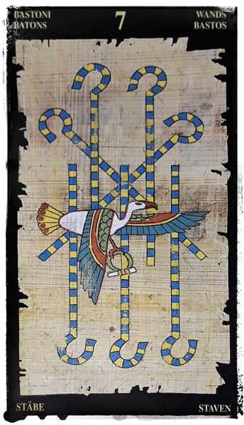 Египетское Таро 7 жезлов