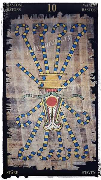 египетское таро 10 жезлов